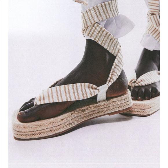 ✨SALE✨ Zara chunky jute fabric sandals ✨SALE✨